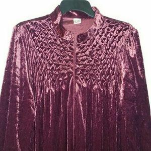 Vtg. Soft Velour Robe